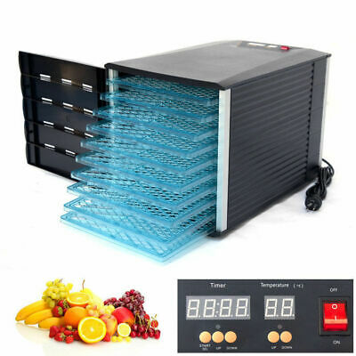 New Design 10 Tray Food Fruit Dehydrator With Door and Timer Dryer