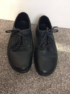 Hotter Fabulous Shoes Real Leather Women Flat Comfort Lace Ups Dark Navy 4 UK 37
