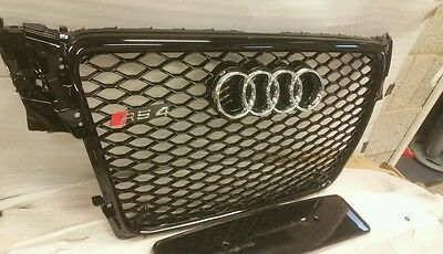 AUDI RS4 GRILL A4 TO RS4 S4 B8 SE S LINE BLACK TRIM, grille front grill  bcc