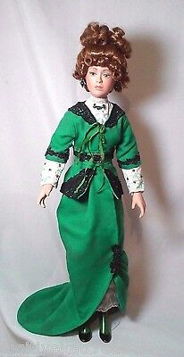 """Paradise Galleries Colleen 16"""" Porcelain Doll Gibson Girl Style Collectible Doll"""
