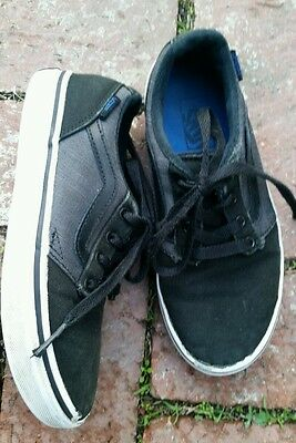 Boys Vans Lace Up Black & Gray Sneakers size 2Y
