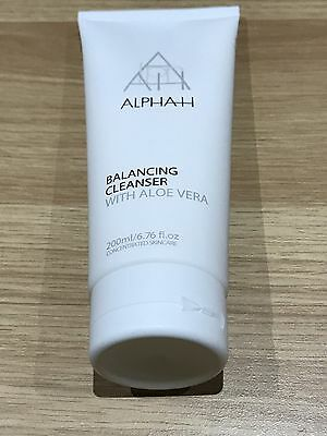 ALPHA H BALANCING CLEANSER with ALOE VERA Supersize 200ml. ALL SKIN TYPES. NEW