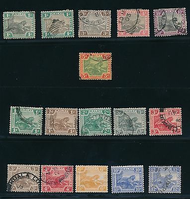 1901 - 1922 Malaya - Federated Malay States; (16); MOSTLY USED/SOME MH; CV $32