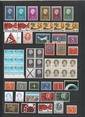 Netherlands Modern Stock Lot Of Mnh On 11 Pages
