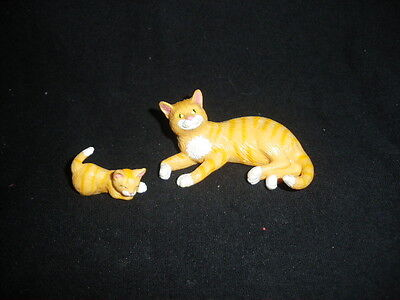 Vintage 1990s Kitty In My Pocket 56. Amanda Tabby Mother and Kitten