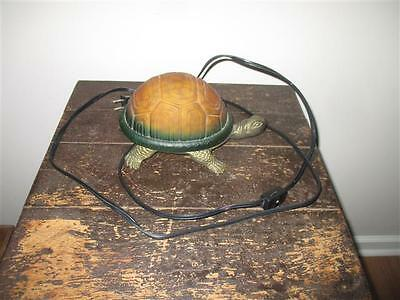 Turtle Accent Lamp / Night Light -Metal w/ Glass Shell (works great)