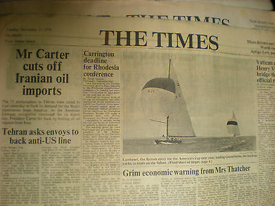 old newspaper 1979 - Carter cuts off Iranian oil imports