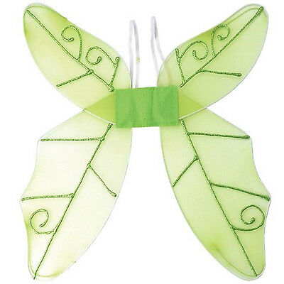 New Adult Ladies Green Net Butterfly Fairy Costume Wings Fancy Dress