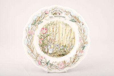 Royal Doulton Brambly Hedge Plate - THE ADVENTURE (RARE, BOXED - MINT!)