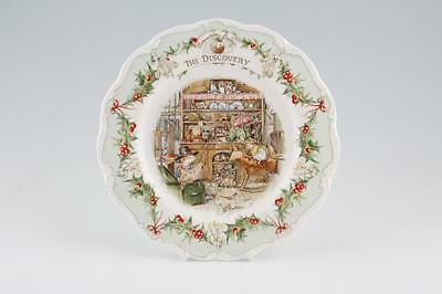 Royal Doulton Brambly Hedge Plate - THE DISCOVERY (Rare/Discontinued - MINT!)