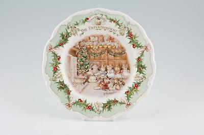 Royal Doulton Brambly Hedge Plate - THE ENTERTAINMENT (RARE, BOXED - MINT!)