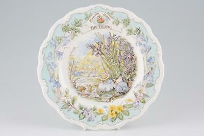 Royal Doulton Brambly Hedge Plate - THE PICNIC (RARE, BOXED - MINT!)
