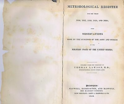 Antique Vintage Army Military Meteorological Weather Booklet US History