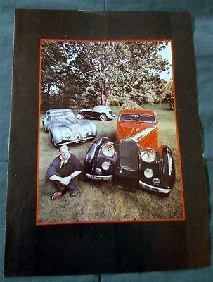Vintage Magazine Page Ad Color Vg Condition Old Bugatti Group Shot