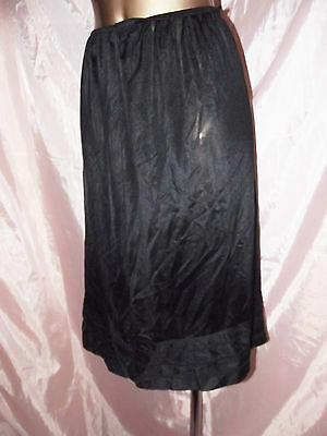 Vintage Used St Michael Dusty Pink Slip Underskirt With Lace Size 14-16 Uk