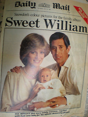 old newspaper 1982 Prince William pictures