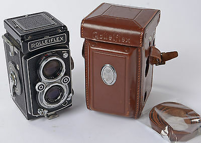 Rolleiflex Automat Model K4A ( 3.5A ) from the Early 1950's with leather case