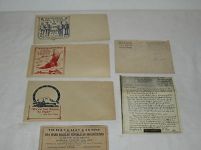 * Vintage Lot Of Wwii First Day Covers & V-Mail Military Memorabilia  *