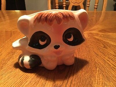Vintage Raccoon Planter Japan # 3455