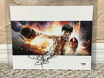 MANNY PACQUIAO SIGNED AUTO 8 X 10 PHOTO Fan Art PSA #AB15620 130