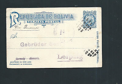 Bolivia 1894 - Old Stationery Card