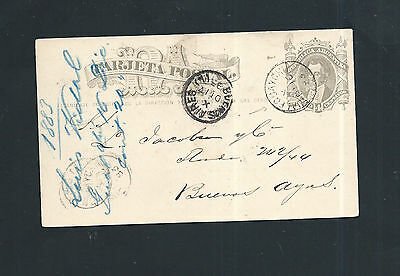 Argentina 1883 - Old Stationery Card