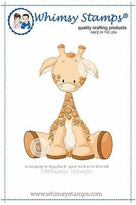 Whimsy Stamps - Cling Mounted Rubber Stamp - Baby Giraffe