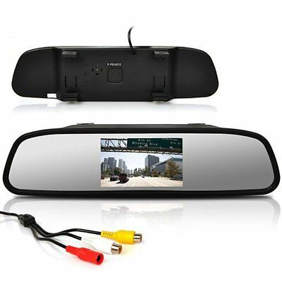 Car Auto Reverse Parking Rearview Mirror Color Digital LCD Display Monitor 4.3""
