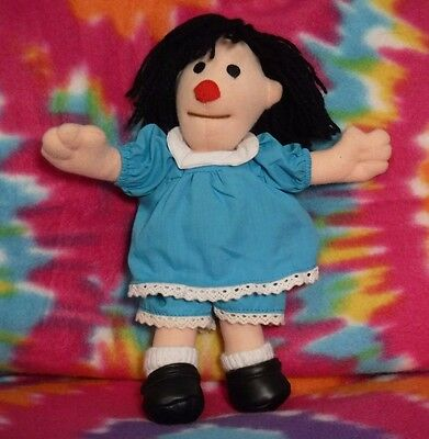 "Big Comfy Couch 9"" Molly Doll Plush Blue Dress Vintage Rare Commonwealth Novelty"