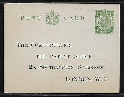 Great Britain Postal Stationery Stationary Official Postcard H&G #6