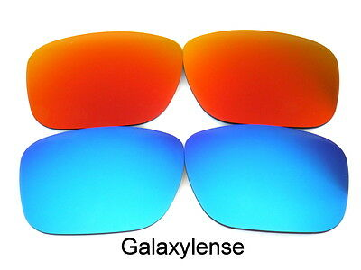 Replacement Lenses For Ray Ban RB4165 Justin Blue/Red 54mm Polarized 2 Pairs