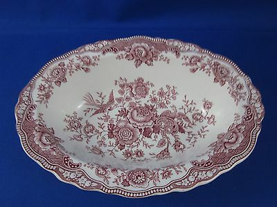 Bristol Crown Ducal England Pink Oval Bowl Rd No. 762055