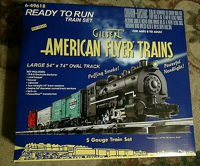 "American Flyer Ready to Run Train Set #6-49618 3/16"" scale"