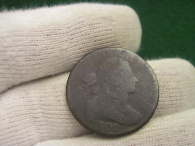 1802 Draped Bust Large Cent Reverse Cud
