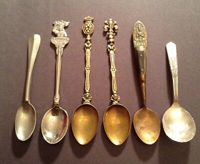 Vintage Mixed Lot of Small Spoons Demitasse Souvenir Silver Plate Collectible