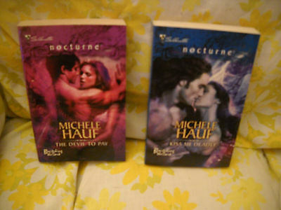 Lot of 2 - Michele Hauf 'Bewitching the Dark' Paranormal Romance Books -Nocturne