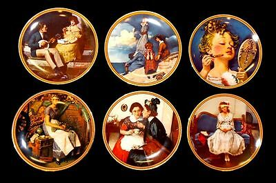 "Set of Six (6)  Norman Rockwell Limited Edition ""Rediscovered Women"" Collector P"