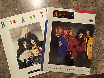 HEART BAD ANIMALS 1987 & BRIGADE 1990 Tour Concert Programs-Very Good Conditiion