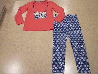Gymboree Mix n Match Spring Camera Top Floral Leggings Outfit Set size S 5 6