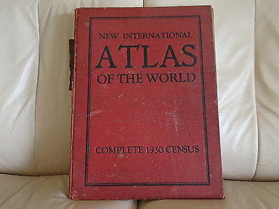 New International Atlas of the World-Complete 1930 Census