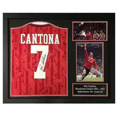 Eric Cantona Signed Framed Manchester United 1994 Football Shirt Collectable
