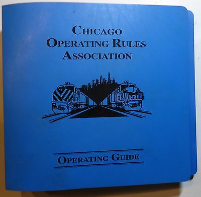 Chicago Operating Rules Assoc.  2001  - CORA Rule Book - Chicago  Area Railroad
