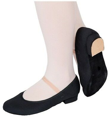 NEW Black Canvas Character Low Heel Dance Shoes Size Child 11.5  Paul Wright