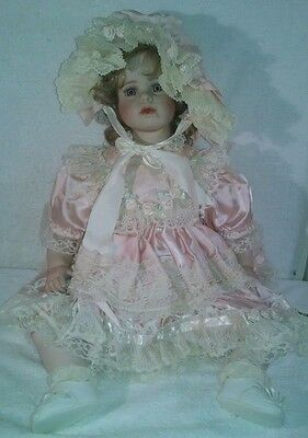 """Designer Guild Porcelain Doll """"Victoria Marie"""" by Thelma Resch 26"""" Tall LE/2000"""