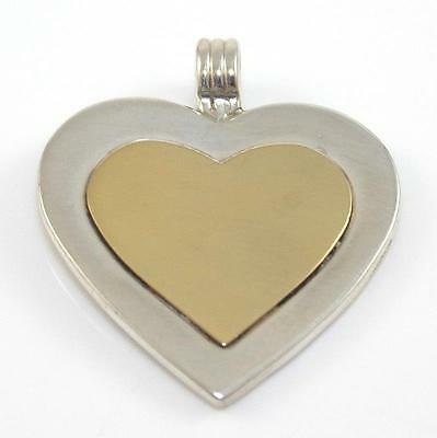 Tiffany & Co. 18K Yellow Gold On Sterling Silver Heart Pendant