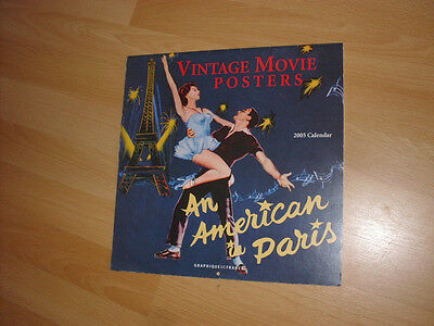 Vintage Movie Posters 2005 Calendar An American In Paris Them The Invisable Boy