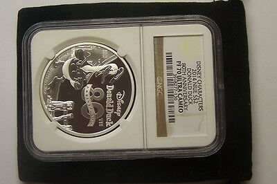2014 NIUE S $2 Donald Duck Disney Character PCGS PF 70 ULTRA CAMEO  80th Anniv..