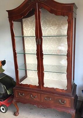 Chippendale Antique Display Cabinet