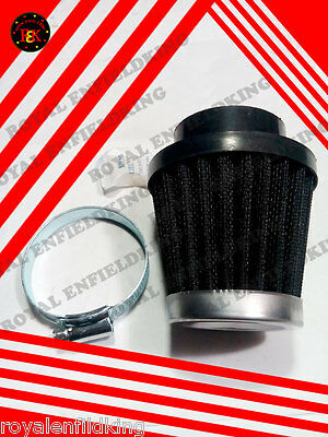 Brand New Royal Enfield 350cc/500cc Cone Air Filter black  VINTAGE