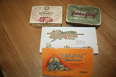 FOUR ANTIQUE BOXES: including three MacRobertson's chocolate boxes